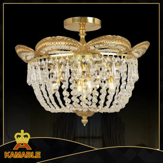 Luxury decorative crystal ceiling light (TX-0842-4)