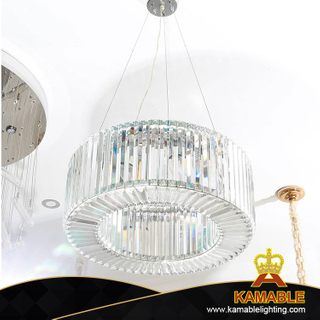 Hollow Circle Clear Villa Ceiling Crystal Pendant Light (KA515-P)