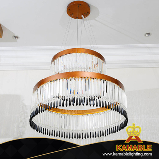 Triple Layer Living Room Shinning Simple Crystal Pendant Lamp (KA522-P)
