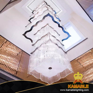 Elegant Luxury Villa Long Crystal Pendant Lamp(KA106P)
