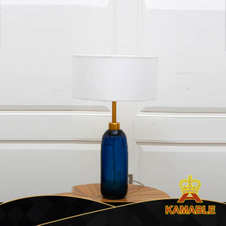 Elegant Decorative Style Hotel Blue Glass Table Lamp(KA532-T)