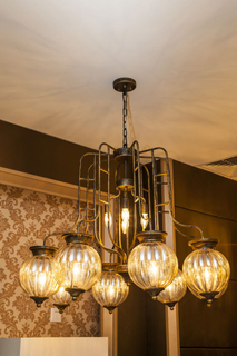 Modern hotel lobby brass project lights (KA239)