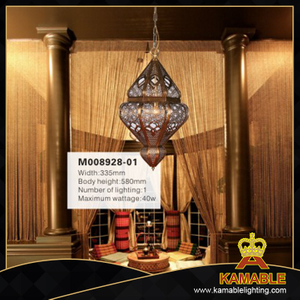 Luxury decorative Arabic style brass pendant light (M008928-01)