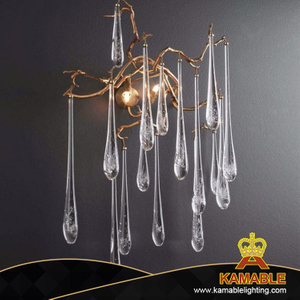 Decorative Glass Water Drop Hotel Wall Light (KAW330)