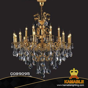 Extravagant indoor decorative cast aluminum chandelier(cos9095)