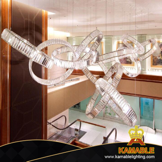 Hotel Project Lobby Crystal Ring Hanging Pendant Lamp (KAJ18011)