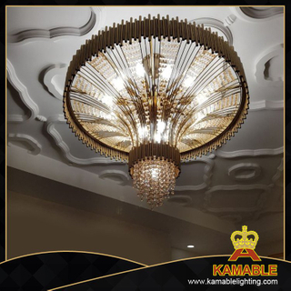 Luxury Hotel project Stainless steel crystal chandelier (KA777-D920)