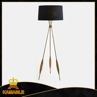 Contemporary cooper and wooden floor standing lamp (KA-F17-093)