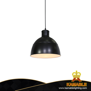 Industry Dining Room Decoration Simple Black Acrylic LED Pendant lighting (KJ051)