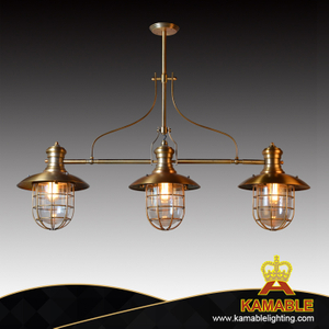 Hotel decorative metal golden pendant lighting(KAC2030-3)