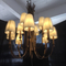 Rose gold hotel project Stainless steel glass chandelier (KAC-03)