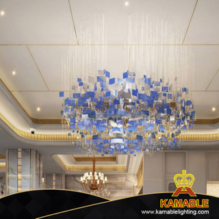 Blue Hotel Lighting Customized Glass Chandelier(KAC-02)