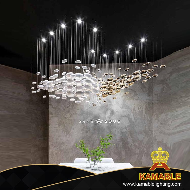 new style chorme and white hotel pendant light(KAMA004)