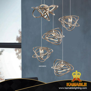 High Quality Morden Decorate Metal Pendant Light (KAH0072-5S-G)