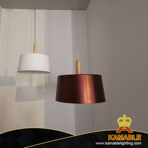 Modern Aluminum Wine Red Shade Pendant Lamp (KA804A/M)