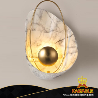 Modern Indoor Pearl Decorate Resin LED Wall Lamp (KAW8282)
