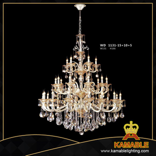 Hotel Classical style pendant chandelier(WD1129-15+10+5)