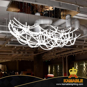 Restaurant Lobby Decoration Fancy Stainless Steel LED Ceiling Light (KAB1023)