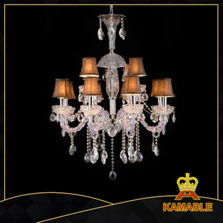 Ethereal style hotel lobby glass chandelier(11004-12L purple )