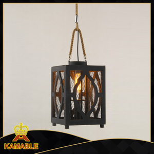 Indoor lantern style wood decorative modern pendant lamp(KW0242P )