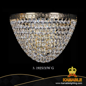 Home Goods Decoration Crystal Wall Light (1925/3W G)