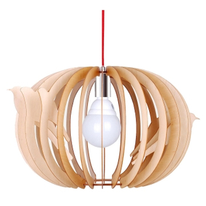 Indoor oval lantern decorative wood modern pendant lamp(LBMP-NL )