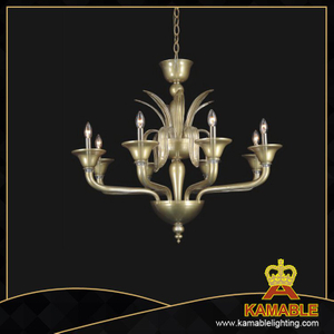 Decorative Murano style glass with shade chandelier(81102-8-2)