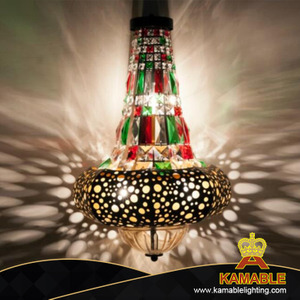 Europe Project Bubbly Crystal Gold Steel Wall Lamp (KA006-B-03-01)