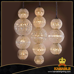 Modern design crystal shade pendant light(1501DR31)