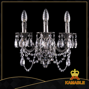 Good quality copper modern crystal Wall Light (1700-3CNB)