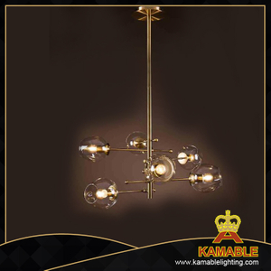 Simple decoration clear glass shade pendant lamp(1704D78)