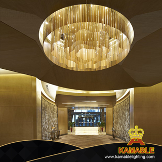 Hotel Lobby luxury decorative large glass chandelier (KJ007)
