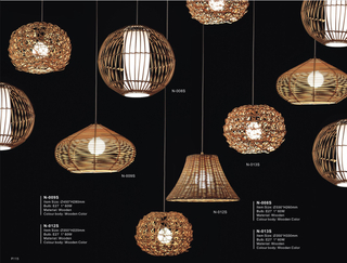 Multifarious shape decorative indoor wood modern pendant lighting(N-013S)