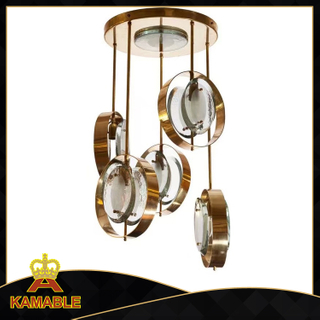 hotel decoration stainless steel glass ceiling lamp (KP06313)