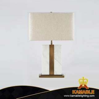 Indoor White Stainless Steel Fabric Shade Table Lighting (KA827827)