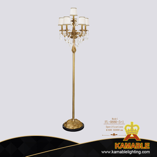 Decorative Antique Brass Floor Lamp for Hotel Living Room (FL-0880-5+1)
