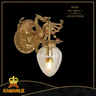 Luxury french Copper brass antique wall lamp (TB-0806-1)
