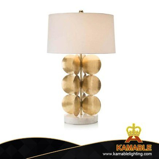 Hotel Bedroom Gold Metal Table Lamp (KPL1814)