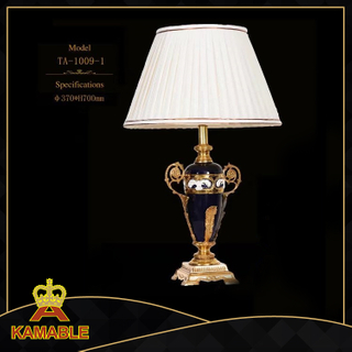 Decorative European vase shaped ceramic table lamp bangladesh(TA-1009-1)