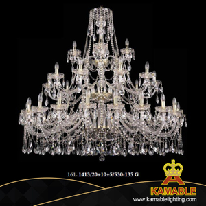 Good Quality Crystal Hotel Project Big Chandeliers (1413/20+10+5/530-135 G)