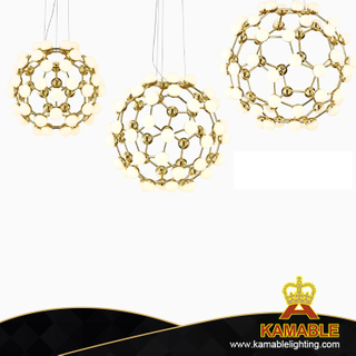 Shinging white glass decorative modern indoor pendant lighting (MD10606-60-650 )
